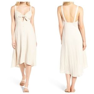 [ASTR the Label] Tie Front Midi Dress Natural